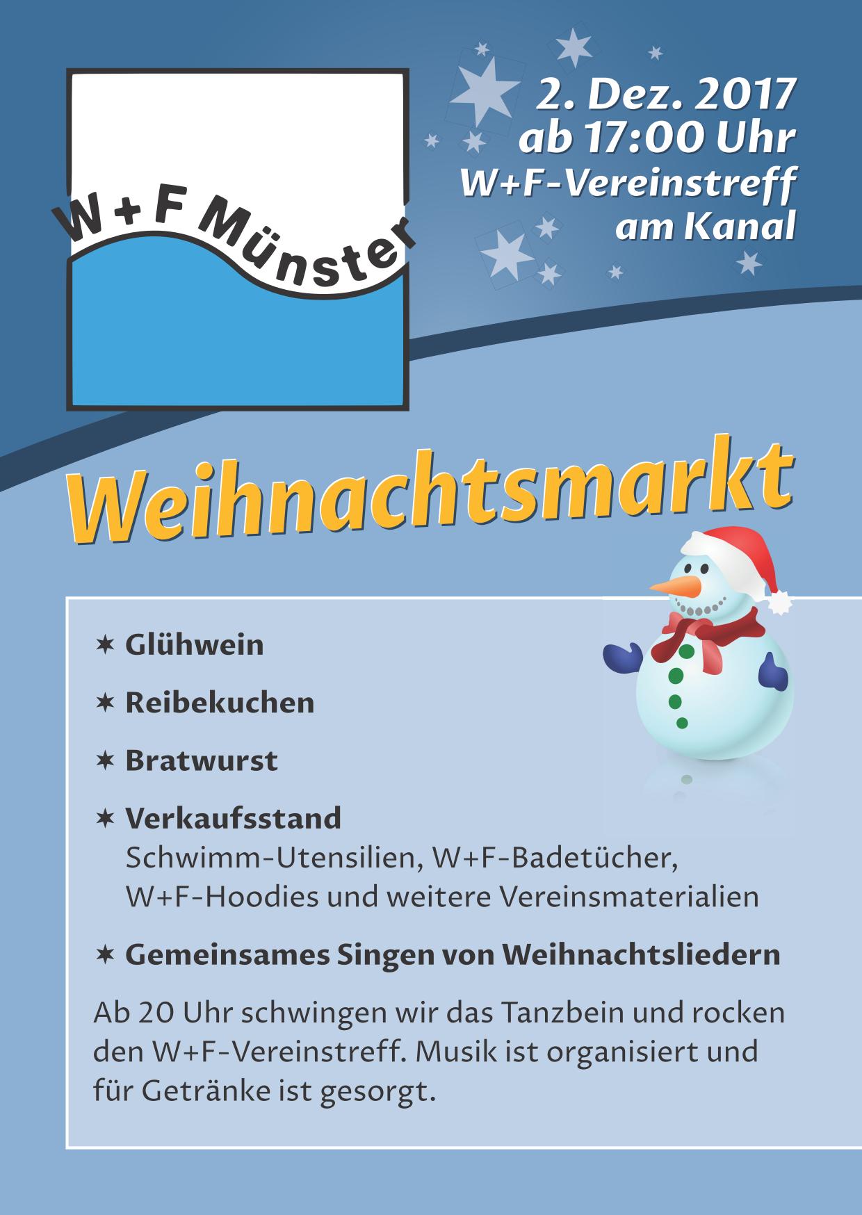 Einladung Zum W F Weihnachtsmarkt Am 2 Dezember Wasser